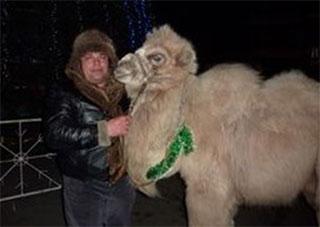 Под херсонскими елками работает генический верблюд!