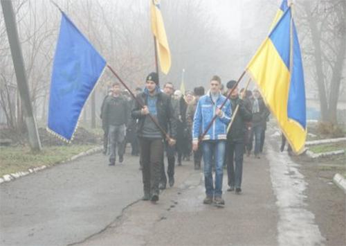 В Каховке отметили День соборности Украины