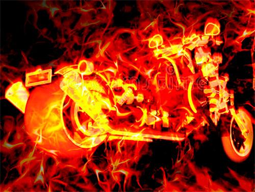 На Херсонщине мотоциклист горел заживо