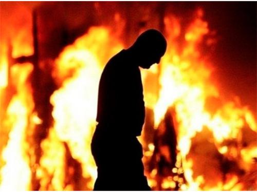 Сын вытащил отца из огня на Херсонщине
