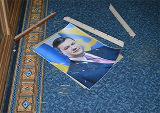 В Каховке снимают Януковича