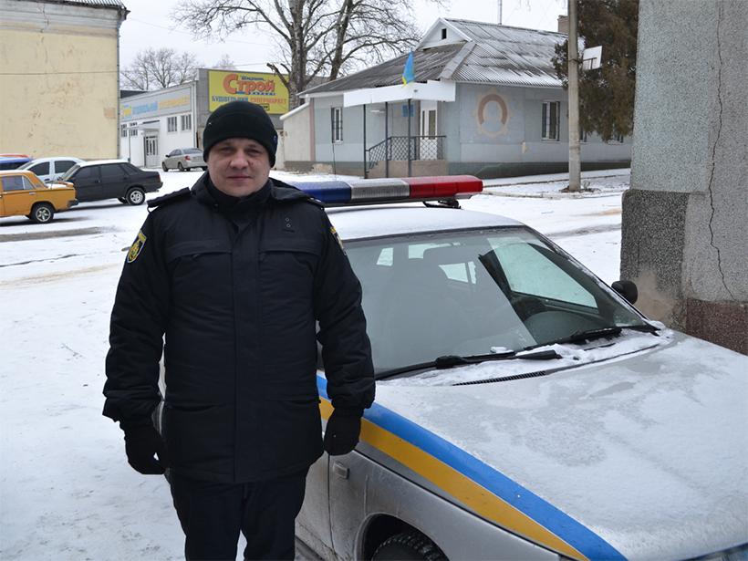 Офицер полиции на Херсонщине рискнул для спасения жизни