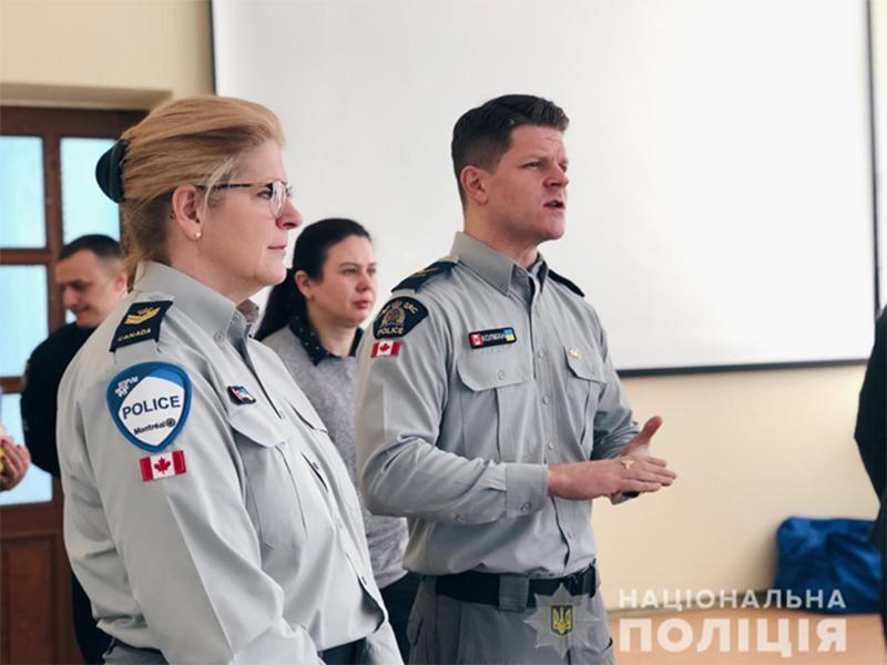 Херсонских полицейских учат канадские