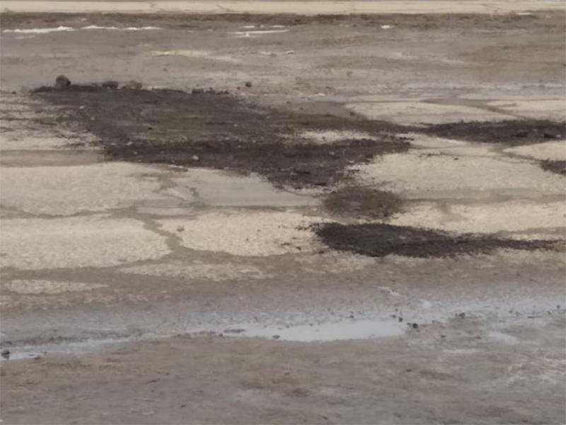 «Высокотехнологичный» метод ямочного ремонта применен в Камышанах на Херсонщине