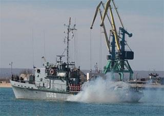 Украинский военный корабль «Геническ» захвачен