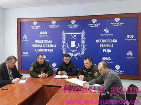 Ситуация с призывом в Олешковском районе близка к критической