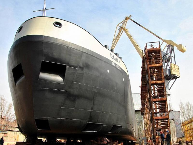 На Николаевской верфи СМГ спущен на воду танкер для голландской компании VEKA