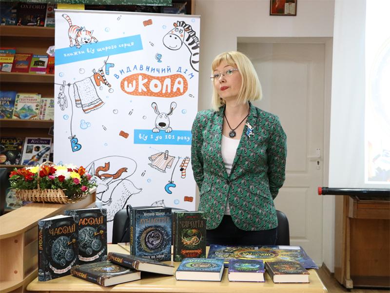 В херсонской Школе побывала известная украинская писательница