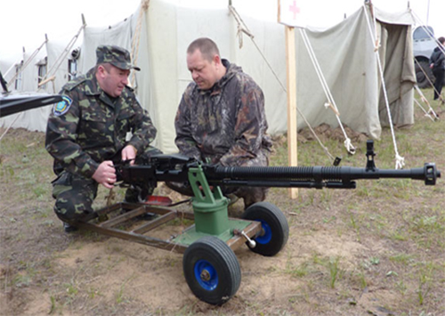 Міліція Херсонщини отримала гранатомет і кулемети