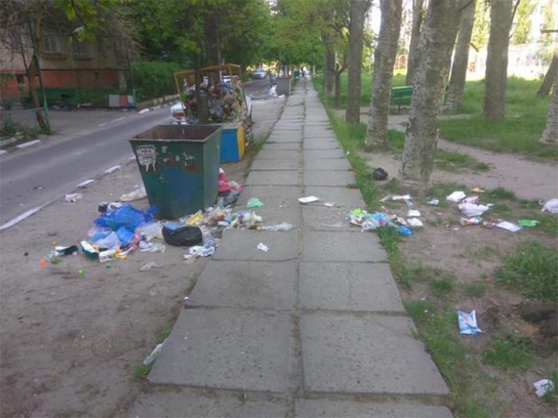 """Как в Херсоне мусор """"вывозят"""" (фото)"""