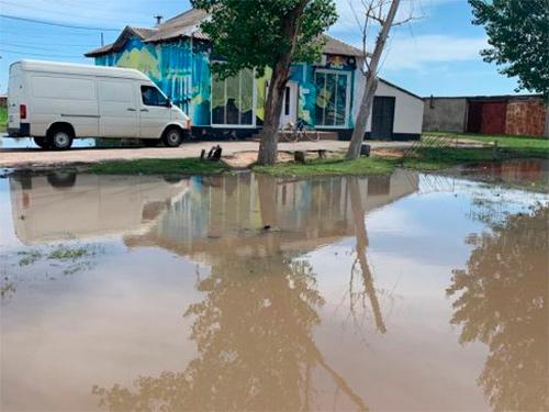 Затоплене село на Херсонщині