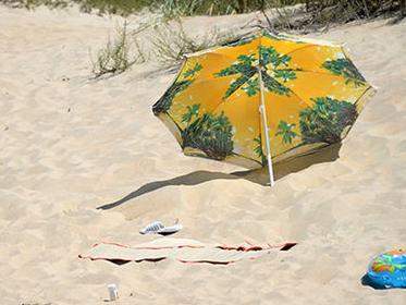 Пляжный зонт травмировал курортника в Скадовске