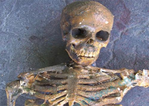 У херсонского кафе нашли скелет