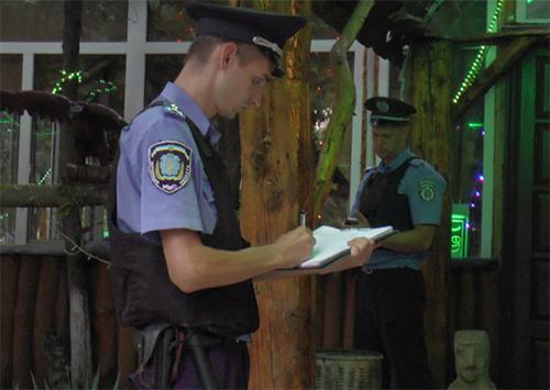Милиция охраняет общественный порядок в Херсоне