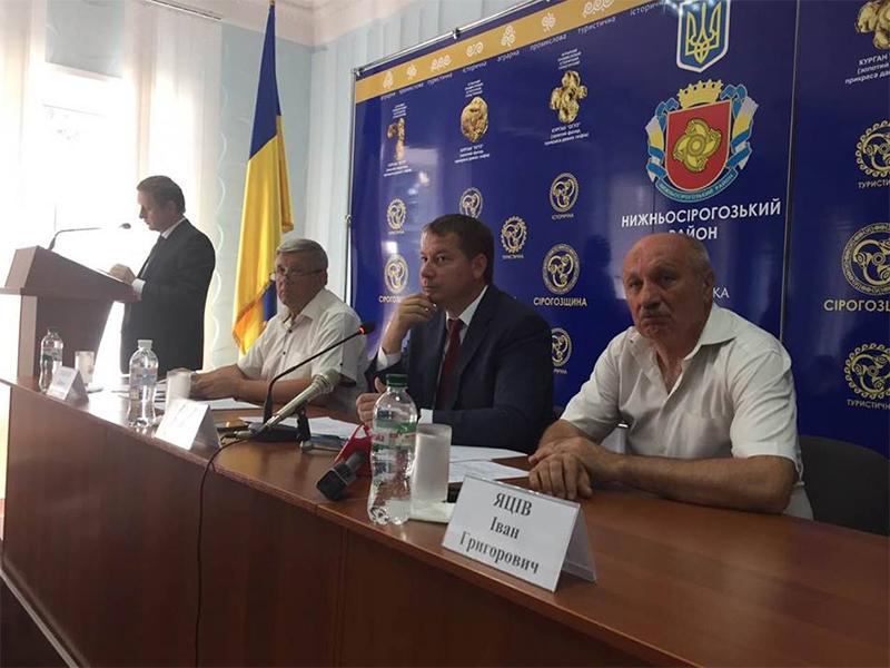 Андрій Гордєєв проводить виїзну нараду в Нижньосірогозькому районі