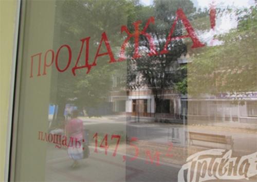 На ул. Суворова в Херсоне закрылось много магазинов