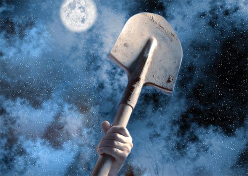 Грабителя с лопатой ищут на Херсонщине
