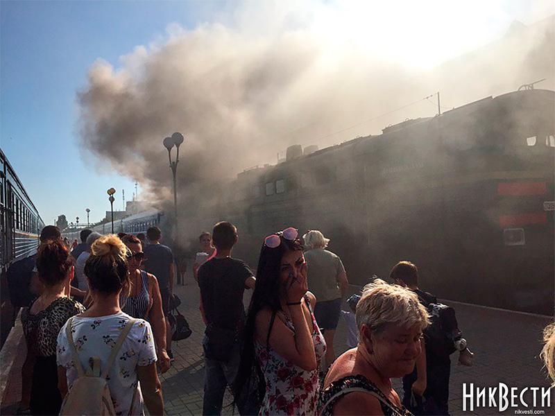 Причини задимлення локомотиву поїзда Херсон – Київ встановлюються