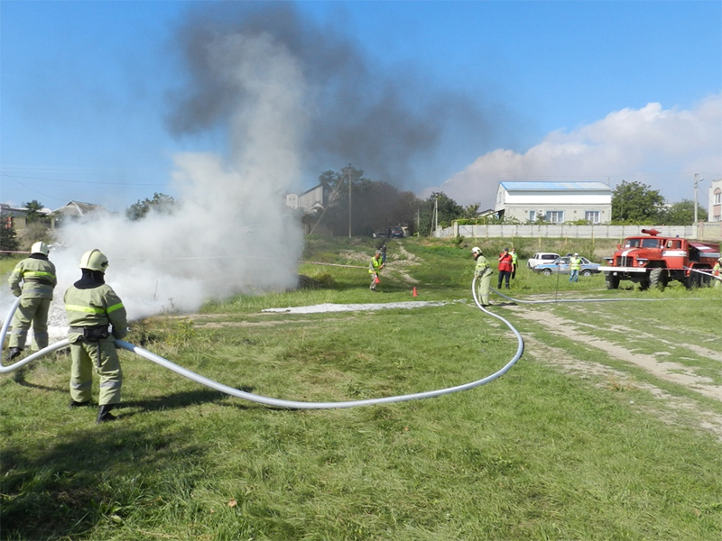 На Херсонщині тренувалися, як діяти під час виникнення авіакатастрофи