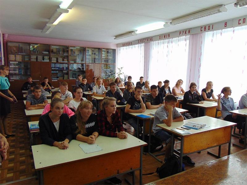 На Херсонщині провели профорієнтаційні уроки для школярів