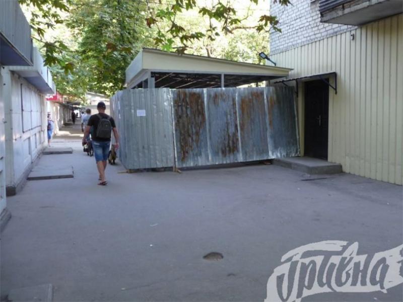 Магазин на улице Мира в Херсоне уже не строят
