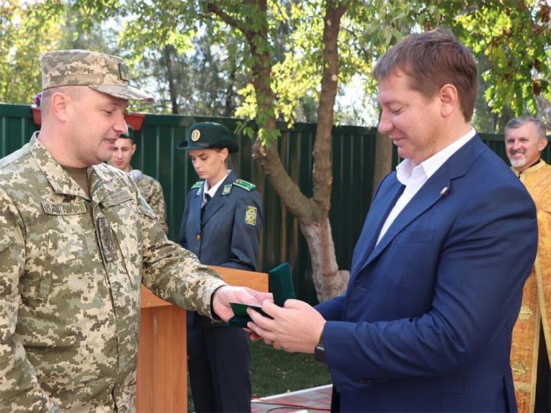 Андрій Гордєєв отримав нагороду від прикордонників