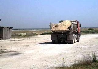 За вывоз песка – уголовное производство