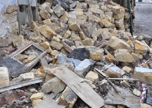 Історичний будинок у Херсоні завалився вдруге