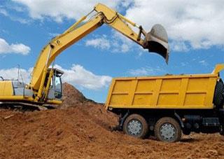 В Геническом районе приостановлена незаконная добыча песка