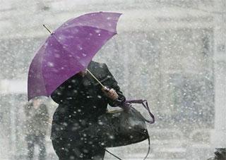 На Херсонщині – штормове попередження: сніг з дощем