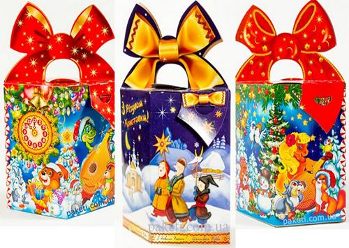 Новогодняя упаковка центр подарков 55