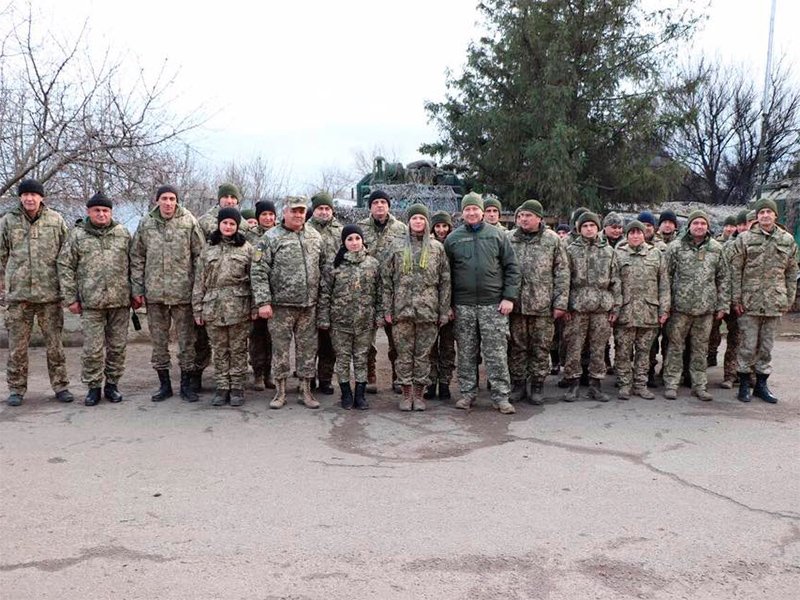 Андрій Гордєєв привітав військових з новорічними святами