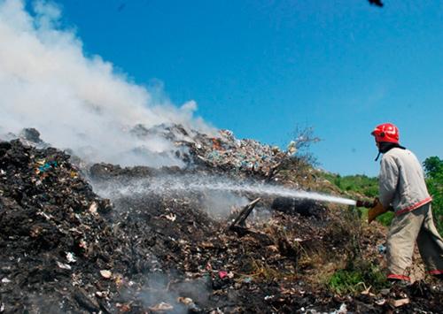 Пожар на крупнейшей свалке Херсона ликвидирован