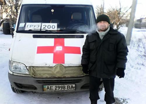 Каховський волонтер «Чорного тюльпану»
