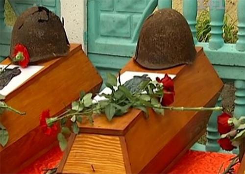 В Цюрупинск привезли пятнадцать погибших бойцов