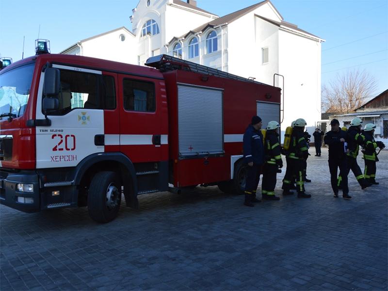У херсонській школі рятували дітей від умовної пожежі