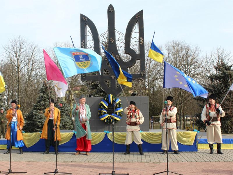Як в Олешківському районі Херсонщини відзначили День Соборності України