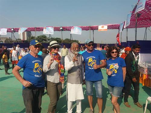 Воздухоплаватели с Херсонщины запускали кайты в небе Индии