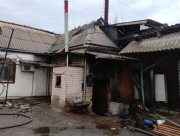 В Херсоне горела котельная в жилом доме