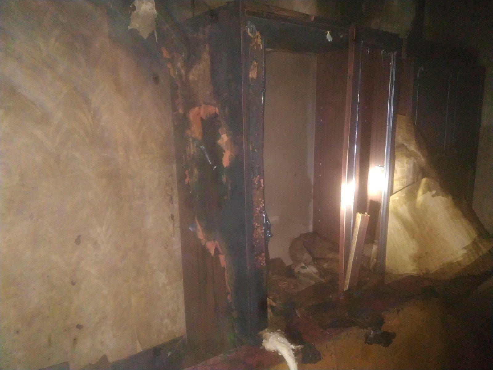 В Херсоне горела квартира в многоэтажке на Таврическом