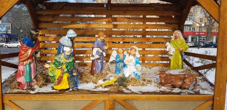 В Херсоне украли символ Рождества