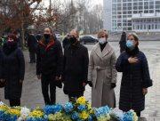 В Херсоне в День Соборности возложили цветы к памятнику Тарасу Шевченко