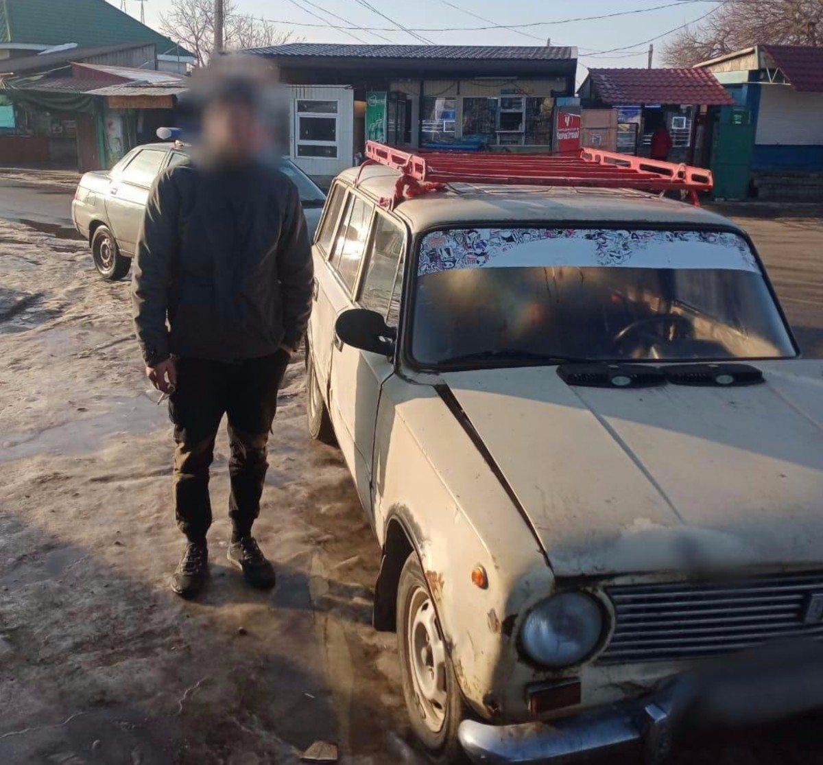 На Херсонщине угнанный автомобиль разыскали за час