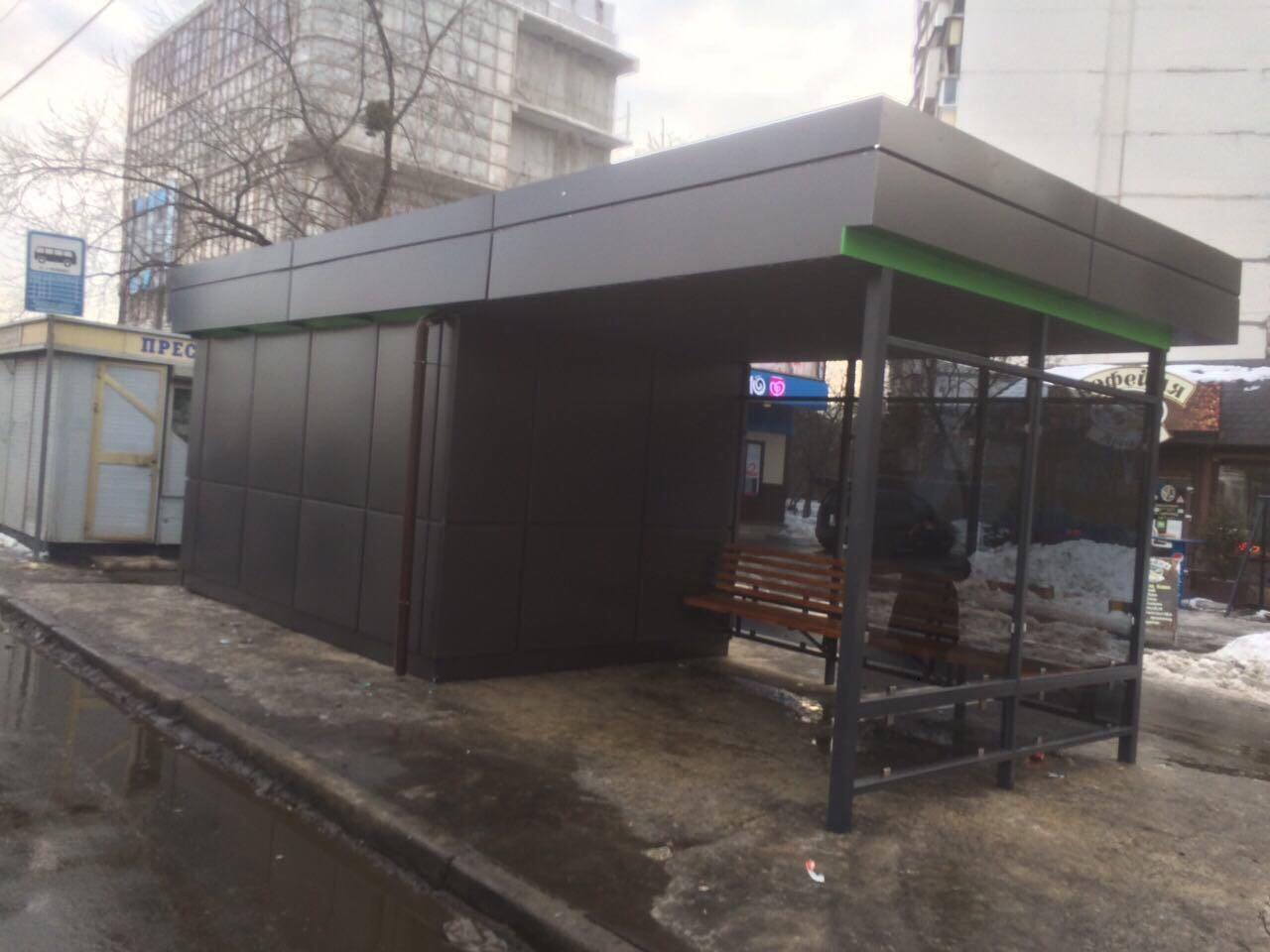 В Херсоне большинство торговых павильонов на остановках построены незаконно