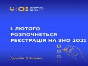 Реєстрація на ЗНО-2021 розпочнеться 1 лютого