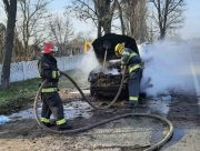 В Херсонской области у автомашины в движении вспыхнул мотор