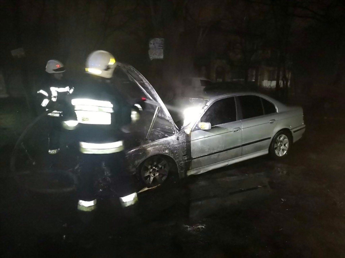 Херсон,пожар автомобиля,ХБК
