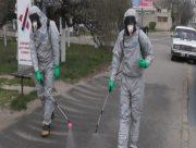 На Херсонщині посилюють санітарну обробку громадских місць