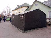 В Херсоне спасатели установили специальные палатки в больницах