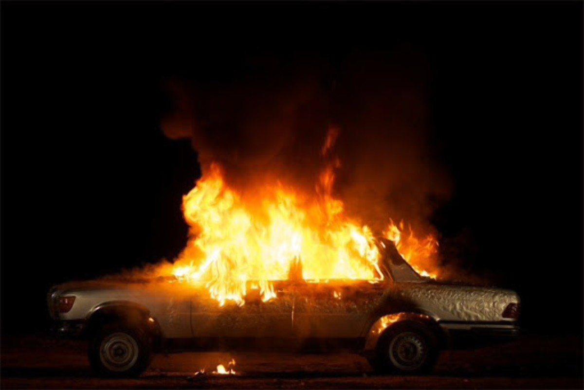 Херсон,пожар автомобиля